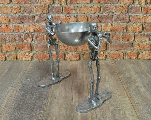 Aluminium 2 Skeleton with 1 Bowl Facing Same Direction